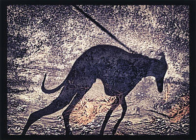 Digital Art - Whippet Silhouette by John Clum