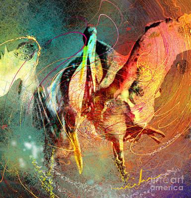 Art Miki Digital Art - Whirled In Digital Rainbow by Miki De Goodaboom