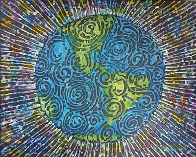 Painting - Whirled Piece by Amelie Simmons