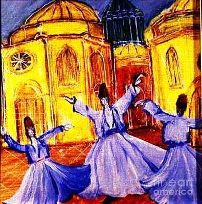 Whirling Dervishes 2 Art Print by Duygu Kivanc