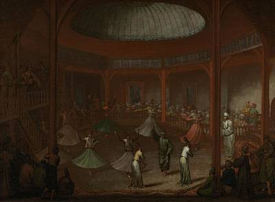 Painting - Whirling Dervishes, Jean Baptiste Vanmour, C. 1720 - C. 1737 by Celestial Images