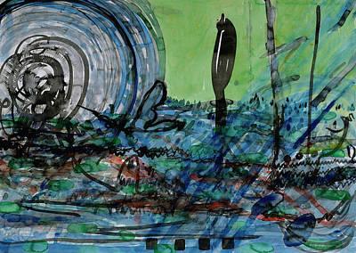 Dramatic Sky Sun Rays Painting - Whirling Hurricane by Heidi Capitaine
