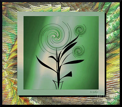 Digital Art - Whirling Plant #6 by Iris Gelbart
