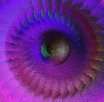 Digital Art - Whirling Wheel #2 by Iris Gelbart