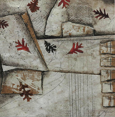 Brown Mixed Media - Whirling Winds by Laura Lein-Svencner