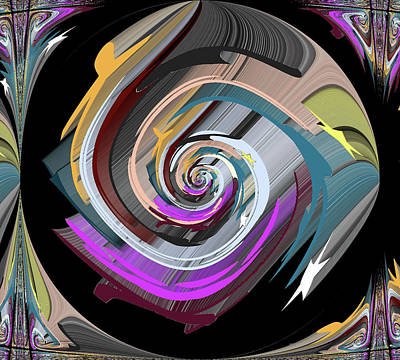 Digital Art - Whirlpool by Cathy Harper