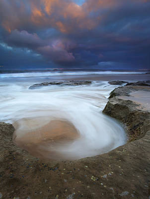 Knights Beach Photograph - Whirlpool Dawn by Mike  Dawson