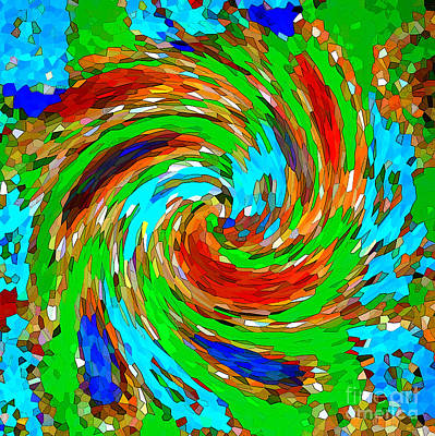 Photograph - Whirlwind - Abstract Art by Carol Groenen