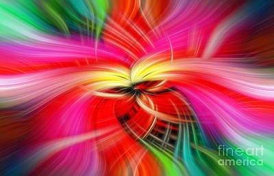 Whirlwind Of Colors Art Print by Sue Melvin