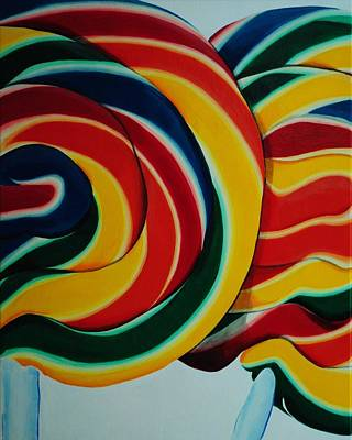 Candy Painting - Whirly Pop by Andrea Nally