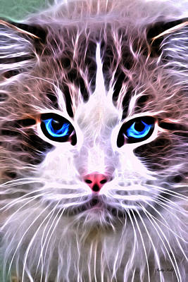 Whiskered One Art Print