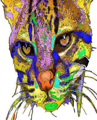 Digital Art - Whiskers. Pet Series by Rafael Salazar