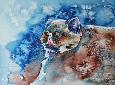 Painting - Whiskers by Zaira Dzhaubaeva