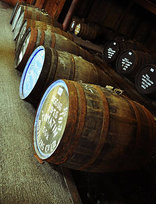 Photograph - Whiskey Barrels At The Distillery by Caroline Reyes-Loughrey