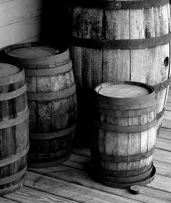 Photograph - Whiskey Barrels by Val Arie
