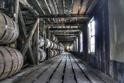 Whiskey Bourbon Barrels Wild Turkey Distillery Kentucky Art Print by Jane Linders