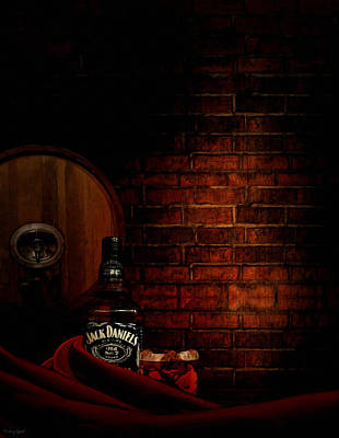Wine Barrel Digital Art - Whiskey Fancy by Lourry Legarde