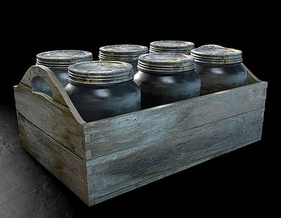 Whiskey Jars In A Crate Art Print