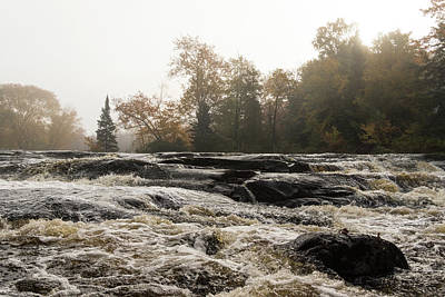 Photograph - Whiskey River - Rough Rapids And Soft Fog by Georgia Mizuleva