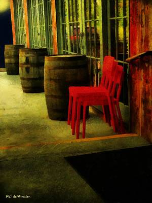 Painting - Whiskey Row by RC deWinter