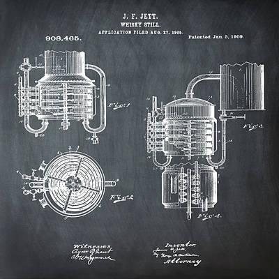 Irish Ale Drawing - Whiskey Still 1906 In Chalk by Bill Cannon