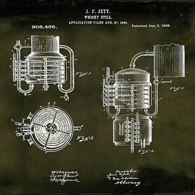 Irish Ale Drawing - Whiskey Still 1906 In Grunge by Bill Cannon
