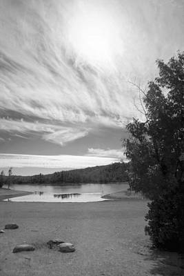 Photograph - Whiskeytown Lake Skyscape B And W by Joyce Dickens