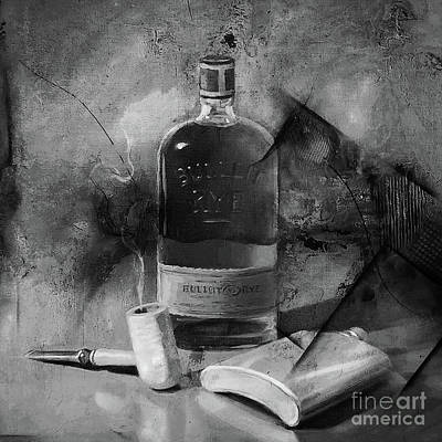 Painting - Whisky And Cigar  by Gull G