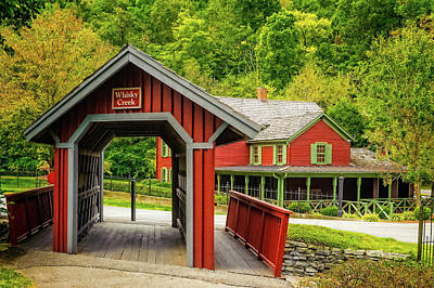 Photograph - Whisky Creek Covered Bridge At Maker's Mark  -  Makersm033 by Frank J Benz