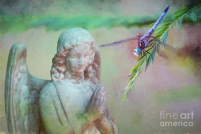 Whisper Of Angel Wings Art Print by Bonnie Barry