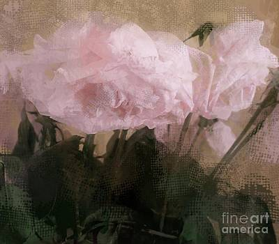 Art Print featuring the digital art Whisper Of Pink Peonies by Alexis Rotella