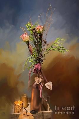 Mixed Media - Whisper Of Roses by Eva Lechner