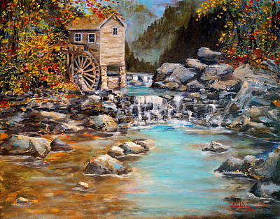 Painting - Whisper Run Mill by Alan Lakin