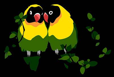 Lovebird Digital Art - Whisper Sweet Nothings by Melanie Todoroff