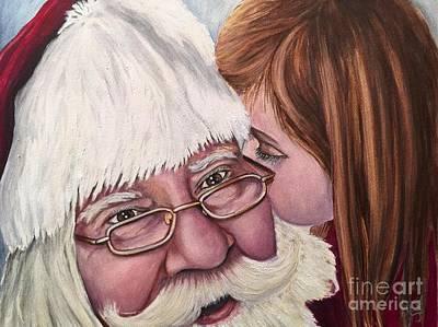 Painting - Whispered Wishes Santa  by Patty Vicknair