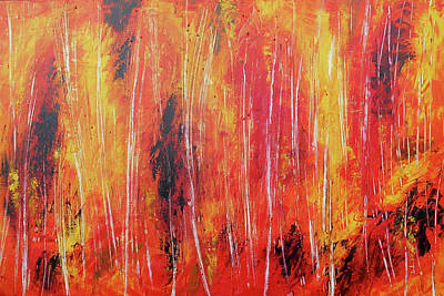 Painting - Whispering Birch by Leon Zernitsky