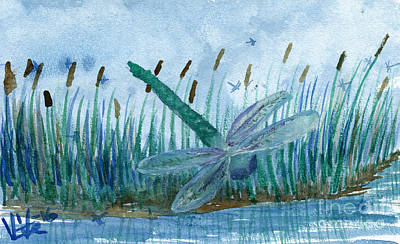 Painting - Whispering Cattails by Victor Vosen