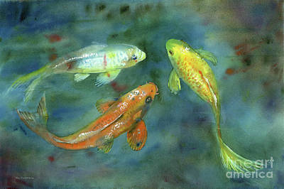 Royalty-Free and Rights-Managed Images - Whispering Koi by Amy Kirkpatrick