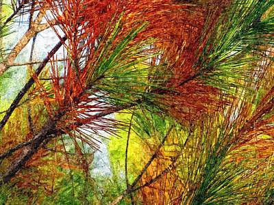 Pine Needle Digital Art - Whispering Pines  by David Dehner