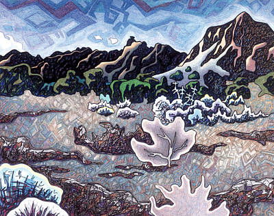 American West Mixed Media - Whispering Silence by Dale Beckman