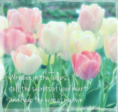 Whispering Tulips Art Print