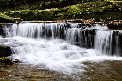 Photograph - Whispering Waterfall Landscape by Christina Rollo