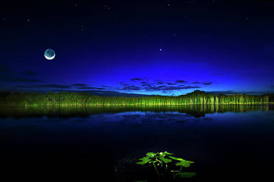 Moon Photograph - Whispering Waters by Mark Andrew Thomas