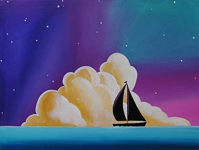 Aurora Borealis Painting - Whispers At Sea by Cindy Thornton