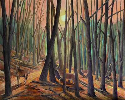 Painting - Whispers In The Woods by Nancy Griswold