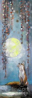 Vixen Painting - Moon Gaze by Manami Lingerfelt