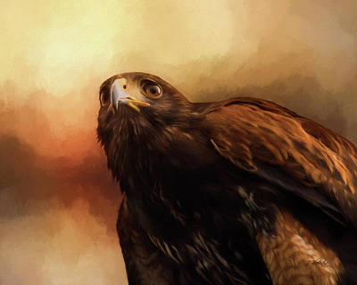 Painting - Whispers Of The Heart - Hawk Art by Jordan Blackstone