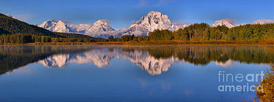 Photograph - Wispy Clouds Over Snow Capped Tetons by Adam Jewell