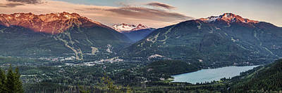 Photograph - Whistler Blackcomb Sunset Panorama by Pierre Leclerc Photography