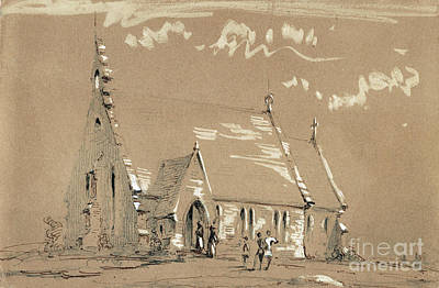 Drawing - Whistler, Country Church. by Granger